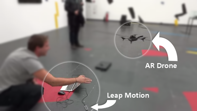 Leap Motion and Augmented Reality (AR) Drone